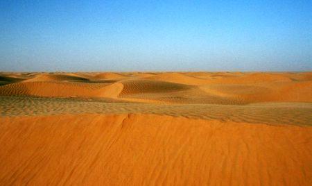 Písečné duny na Sahaře